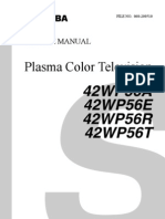 Toshiba 42WP56 Plasma TV Service Manual