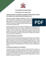NOTA DE PRENSA N°45-2018-JEE-TBPT-JNE