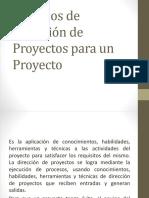 Procesos de Dirección de Proyectos Para Un Proyecto