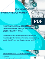 Physical and Chemical Properties of Water(2018)