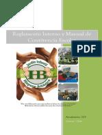 Reglamento Interno y Manual de Convivencia Escolar JHB 2019