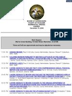 Fauquier Supervisors 12 13 2018 Agenda