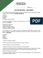 Exercício de Revisão Anatomia