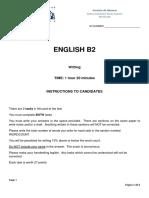 B2 Writing Test