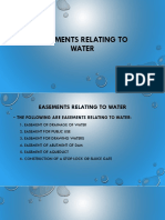 Easement Relating to Water (UPDATED)