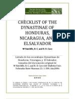 Los Dynastinae de El Salvador, Honduras y Nicaragua