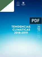Tendencias Climáticas Verano 2019 Inumet