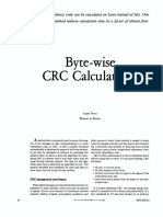 Fairchild Byte Wise CRC