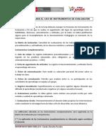 Indicaciones Para El Uso de Instrumentos de Evaluacion