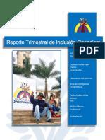 Reporte Trimestral de Inclusión Financiera – Cifras a Junio 2018