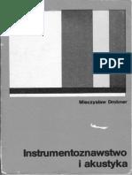 Mieczysław Drobner - Instrumentoznawstwo i Akustyka PDF