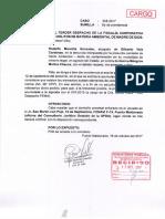 Gilberto Vela Cardenas- Agraviado solicita nuevamente a la Fiscalía Ambiental la acumulación de carpetas investigatorias