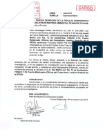 Francisco Pita Reyna-Agraviado se apersona a Fiscalía Ambiental