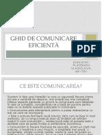GHID DE COMUNICARE EFICIENTĂ