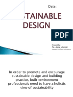 Sustainable Design Lecture # 04