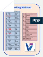 Language Voices Spelling Alphebet Spanish