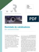 Reciclado de Catalizadores de Automoviles