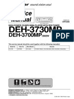 Pioneer Deh-3700mp, Deh-3730mp Service Manual