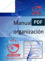 Ejemplo de un Manual de Organizacion
