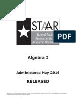 Staar Eoc 2016 test Algebra