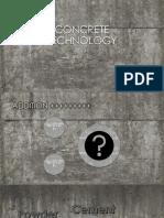 CONCRETE TECHNOLOGY INTRODUCTION