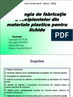 Tehnologia de fabricaţie a recipientelor din materiale plastice.ppt