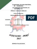 Presas de Ayacucho Peru