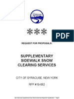 RFP 19-062 Sidewalk Snow Clearing Services