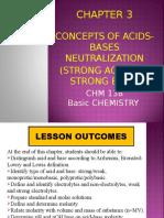 Chapter 3 - Concept of Acid-base Neutralisation