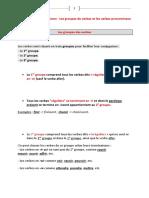 01 - Conj - Les Groupe Verbaux, Les Pronominaux Et Quelques Verbes Importants