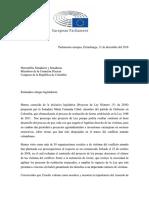 Carta parlamentarios Europeos