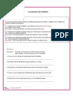 Les Phrases de Condition Exercices Et Corrige-1-4
