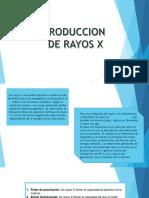 Produccion de Rayos x Expo
