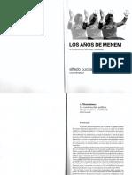 Alfredo Pucciarelli - Los Años de Menem - Cáp.1. Menemismo, La Construcción Política Del Peronismo Neoliberal