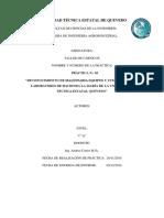 Informe de Reconocimiento de Maquinarias