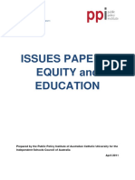 (PPI 2011) Equality and Education
