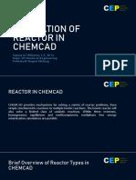 Chemcad Reactor Design Tutorial