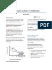 Microeconomics Final Exam