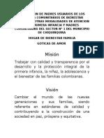 Hogar de Bienestar Familia Mision y Vision