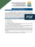 Edital Nº 08.2018 - Seleção Para Aluno Regular - 2019.1