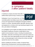 Car Parts Manufacturer Fined After Worker Suffers a Serious Injury - HSE Press Release