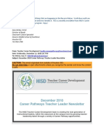 career pathways news letter interview