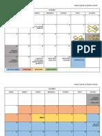 Second Sem Calendar