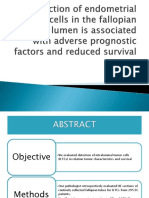 Detection of Endometrial Cancer Cells in the Fallopian