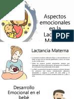 Aspectos Emocionales en la Lactancia Materna