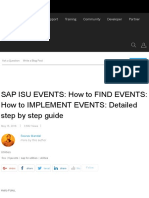 SAP ISU EVENTS