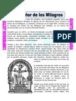 Ficha El Señor de Los Milagros Para Quinto de Primaria