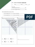 Algebra C Practice Test on Systems of Inequalities