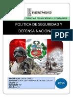 Politica Nacional y Defensa Nacional