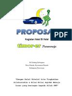 Proposal Halal Bihalal Club Mobil (Komunitas Mobil timor)